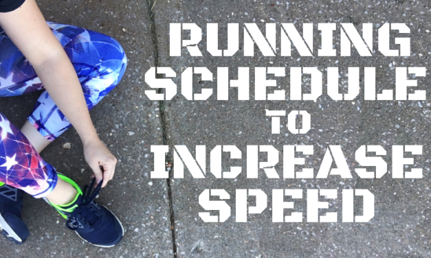 Running Schedule to Increase Speed