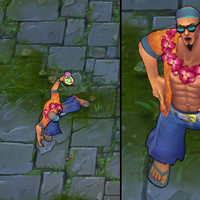 Pool Party Lee Sin skin screenshot