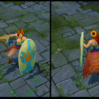 Pool Party Leona skin screenshot