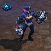 Officer Vi skin screenshot