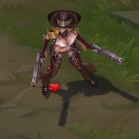 Cowgirl Miss Fortune skin screenshot