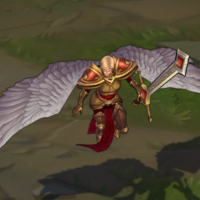 Unmasked Kayle skin screenshot
