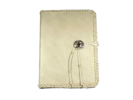 Beige Leather Bound Address Book