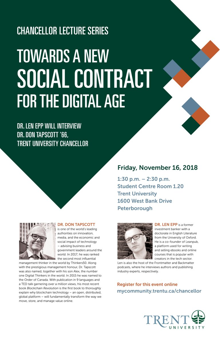 Towards a New Social Contract for the Digital Age: Chancellor's Lecture