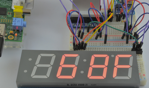 Large Pi-based Thermometer and Clock