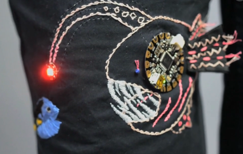 Light-Up Angler Fish Embroidery