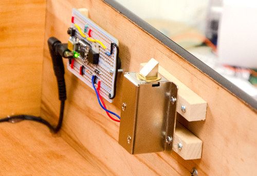 Secret Knock Activated Drawer Lock