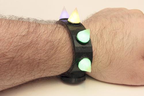 3D Printed Glow-Spike Bracelet