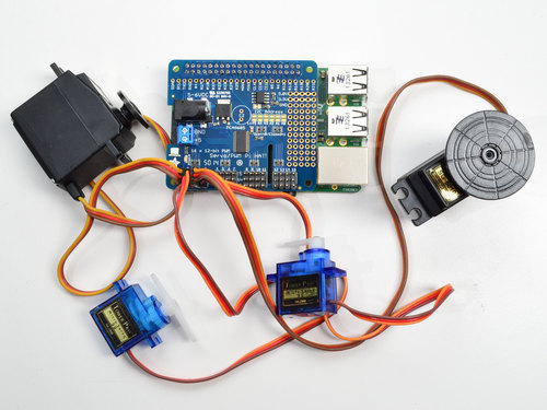 Adafruit 16-Channel PWM/Servo HAT for Raspberry Pi