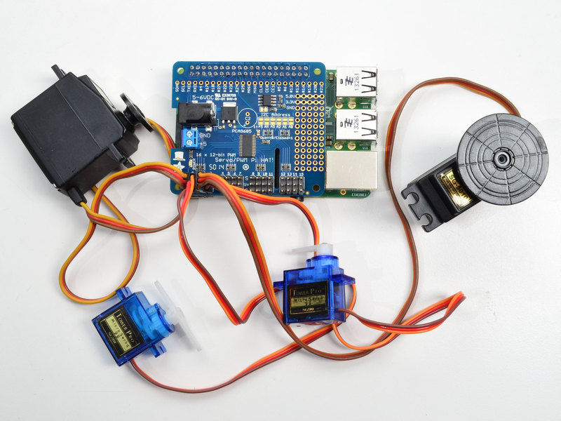 4servo overview adafruit 16 channel pwm servo hat for raspberry pi  at readyjetset.co