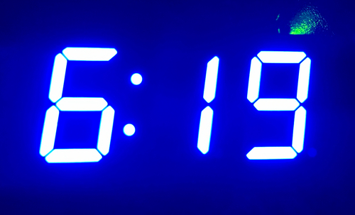 7 Segment Display Internet Clock