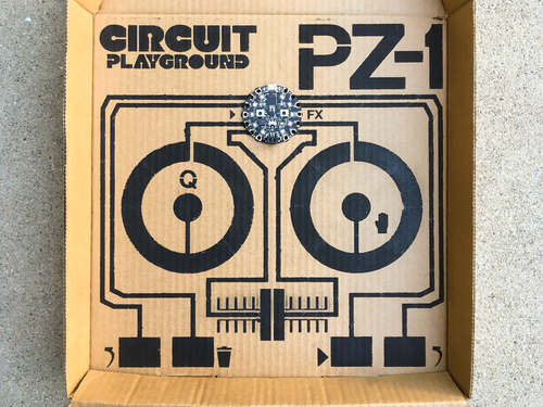 Circuit Playground PZ-1: Pizza Box DJ Controller