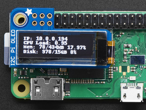 Adafruit PiOLED - 128x32 Mini OLED for Raspberry Pi