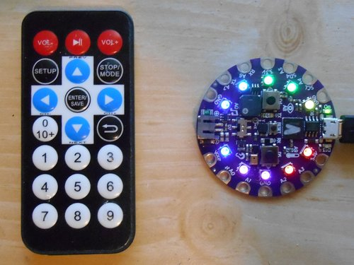 Infrared Transmit and Receive on Circuit Playground Express in C++