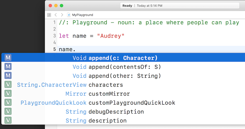 String autocomplete