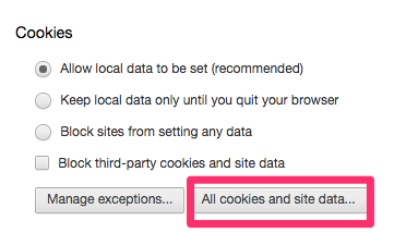 All cookies and site data...