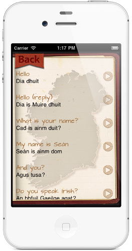 Irish app conversation