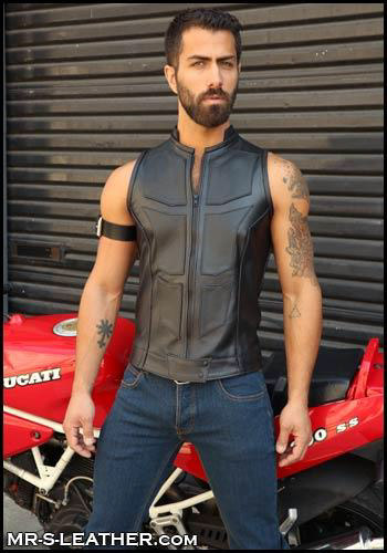 Leather Avenger Vest Falcon