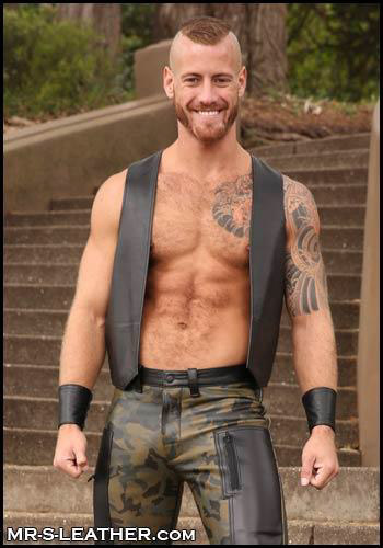 Leather Bar Vest Butler