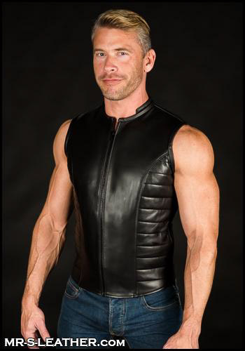 Black Leather Renegade Vest 36732