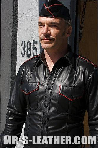 Long Sleeve Leather Police Shirt Rogers