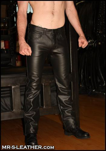 leather pants in Vivian LA