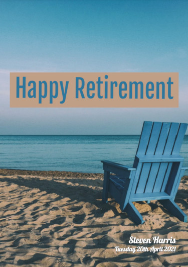 A retirement card showing a deck chair