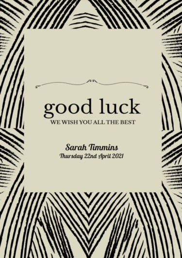 A good luck card showing a sophisticated pattern