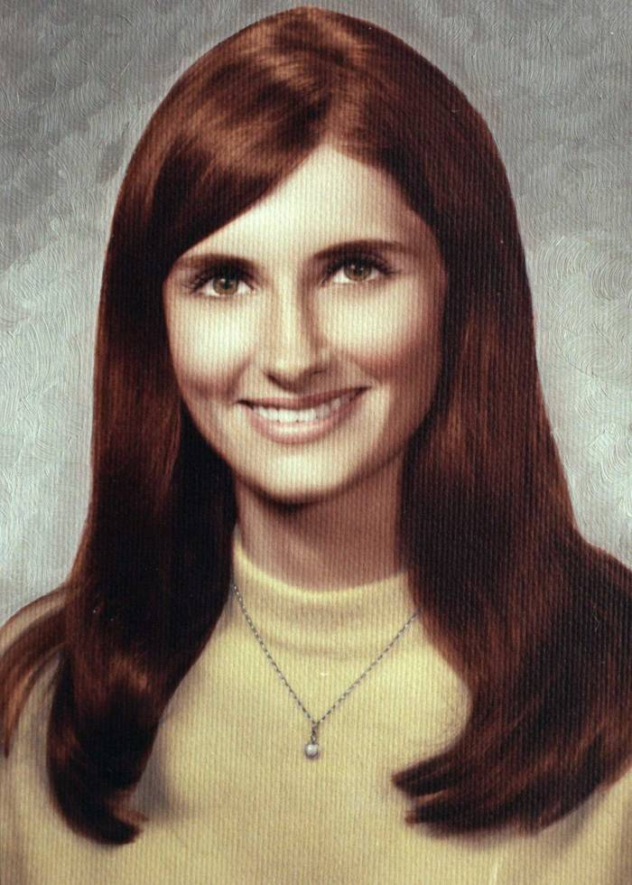 A young woman's high school picture.
