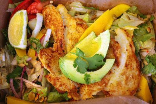 Pollo asado salad  [SCOTT KEELER  |  Times]
