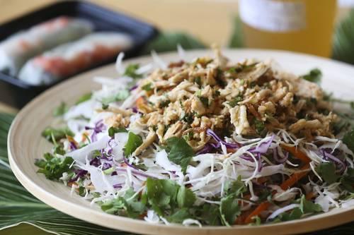 Chili chicken salad  [EVE EDELHEIT  I  Times]