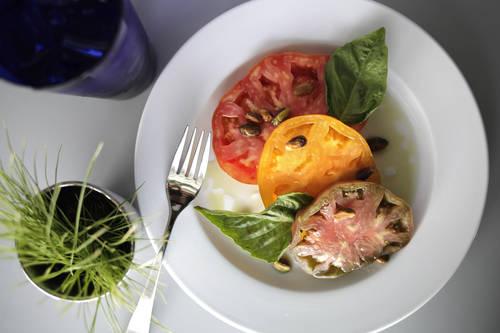 Salt- and sugar-cured heirloom tomatoes  [LARA CERRI  |  Times]