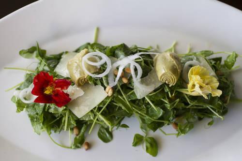 Pea shoot salad  [SOPHIA NAHLI ALLISON  |   Times]