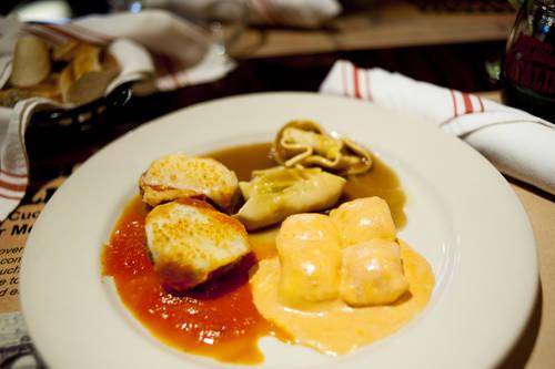 Tortellacci meatball appetizer combo  [OCTAVIO JONES  |  Times]