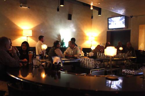 The bar area  [EVE EDELHEIT  |  Times]