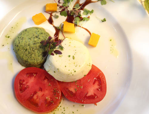 Basil and goat cheese panna cotta  [SCOTT KEELER  |  TIMES]