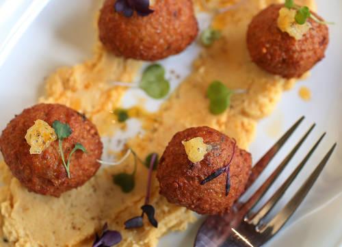 Falafel appetizer  [SCOTT KEELER  |  Times]