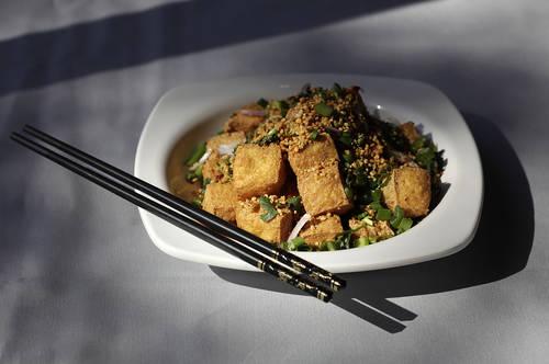 Salt and pepper tofu  [LARA CERRI  |  Times]
