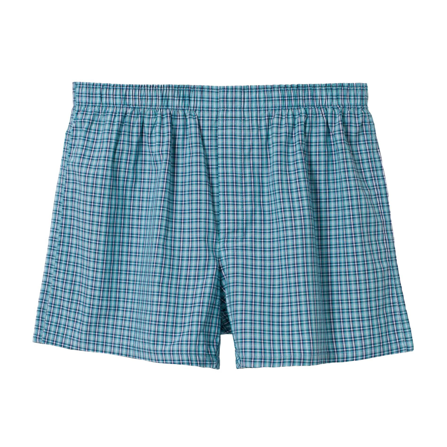 XXL,Blue bossini Life Mens Cotton Woven Underwears Boxers Shorts S