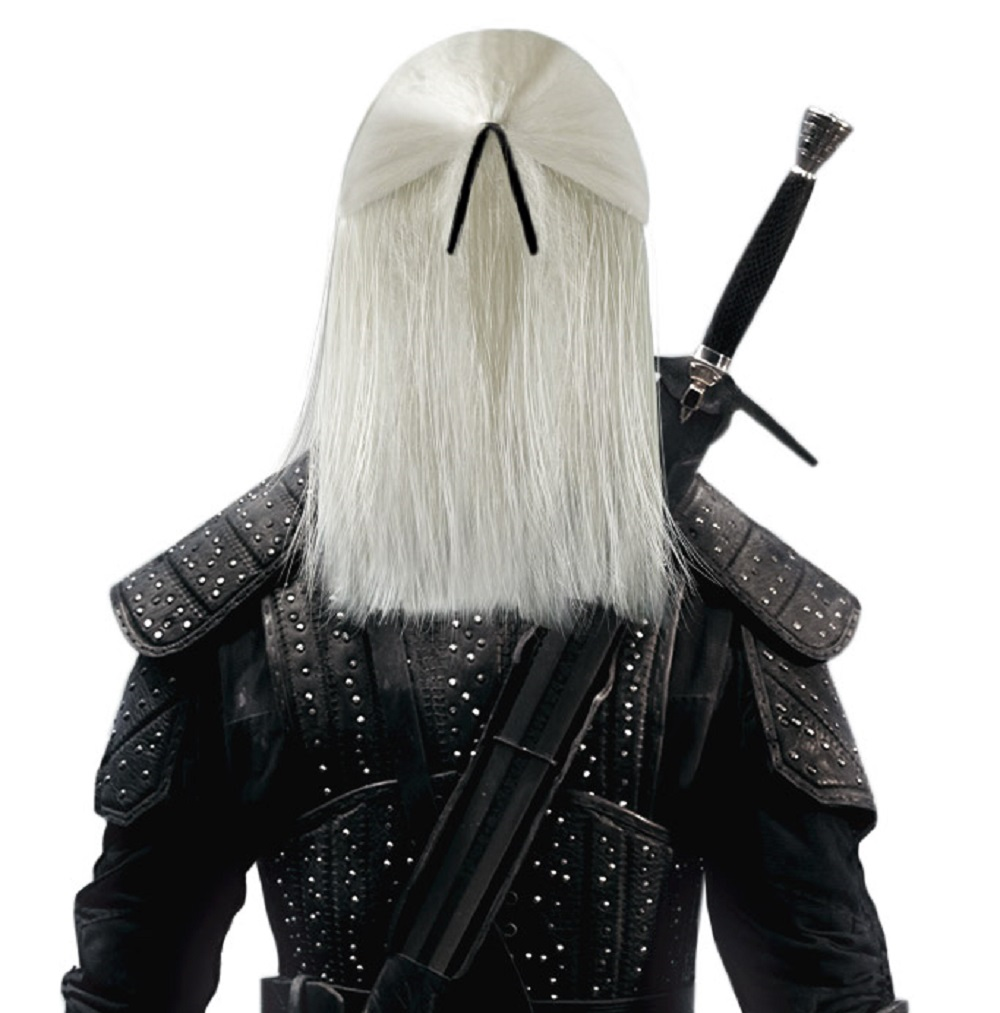 Man Long Straight Geralt Cosplay Wig Synthetic Game Role ...