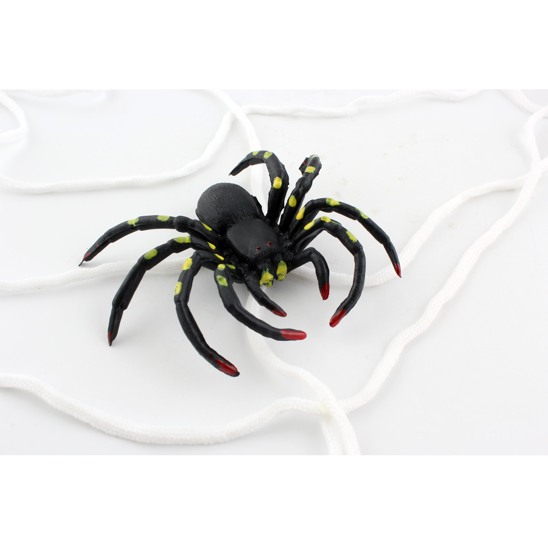 HALLOWEEN INDOOR OUTDOOR GIANT NYLON 1.5M SPIDERS WEB ...