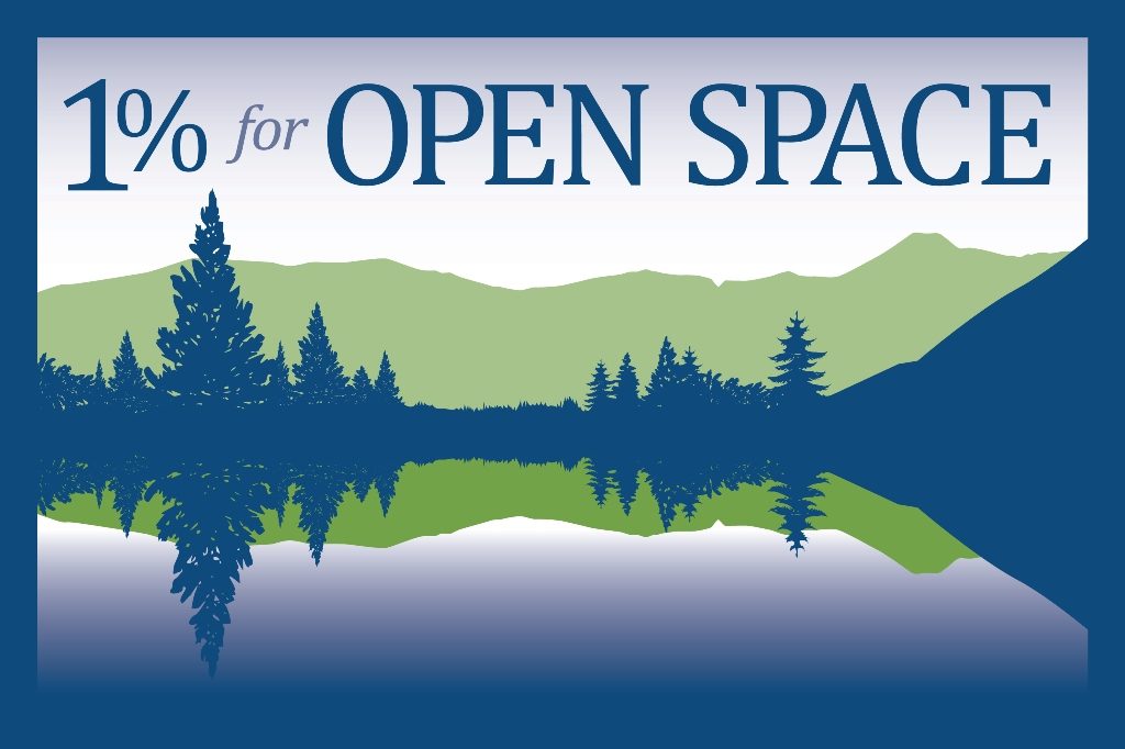 1% For Open Space logo