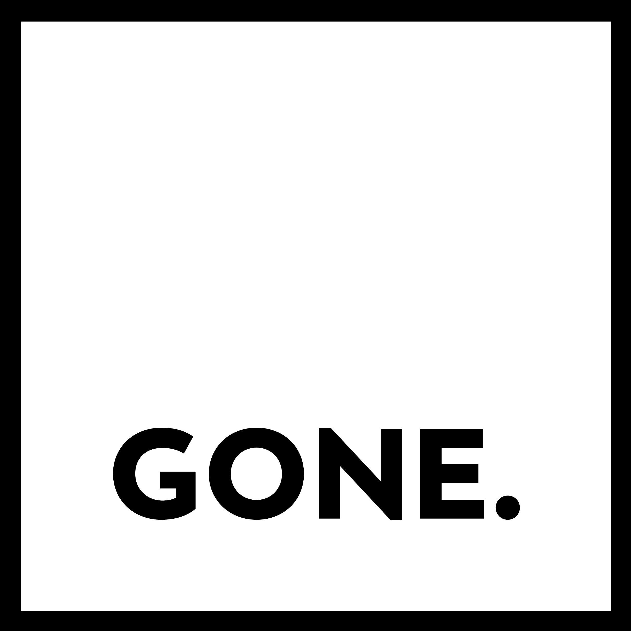 Gone. logo