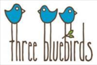 Three Bluebirds Swedish Dishcloths logo