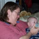 Christine with baby Bradlee