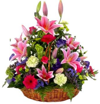 Abundance Basket Funeral Flowers