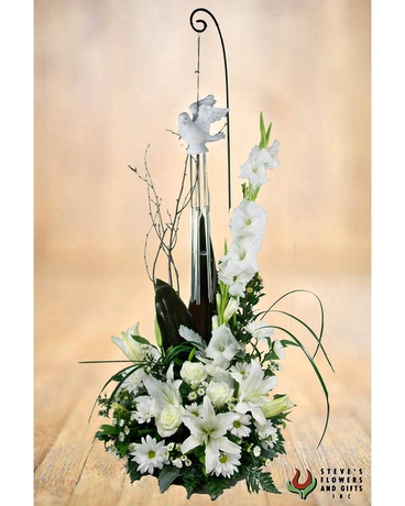 Soaring Peace Dove Wind Chime Bouquet