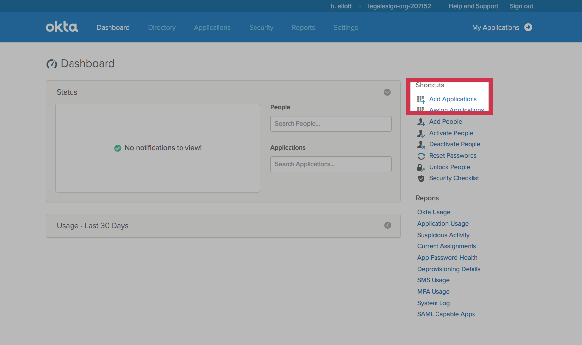 SSO with OKTA for your electronic signature software