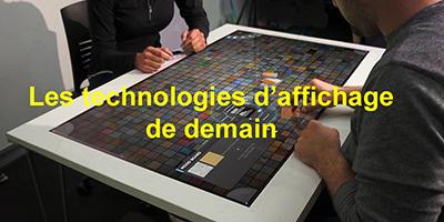 Les technologies d'affichage tactiles et électroluminescentes