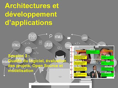Développement, Session 3: Qualité du logiciel, évaluation des projets, Open Source et modélisation